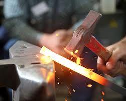 steel forgings - hammering away