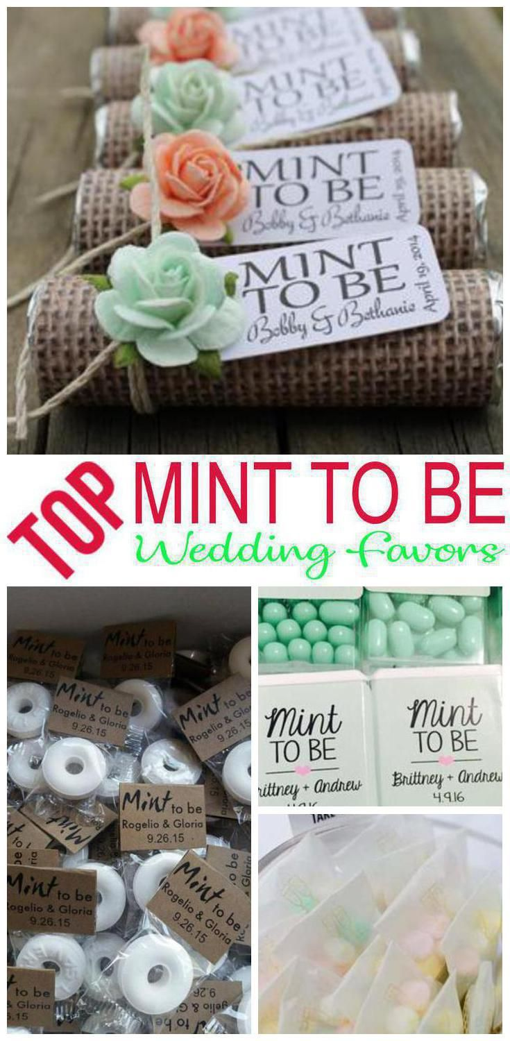 Mint To Be Wedding Favors Mint Wedding Favors Diy Wedding Favors Simple Wedding Favors