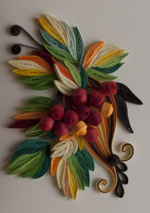 Neli Quilling Art: Quilling card - Autumn breeze