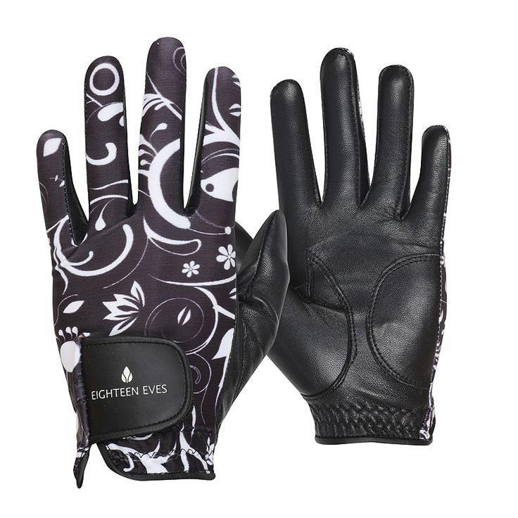 This ladies golf glove is fashioneered with a flexible back, allowing your grip to form easily. The palm is made from soft Cabretta leather that acts like a second skin, giving your hands enough protection without compromising the connection of your swing. Material: Cabretta Leather with Lycra Back Style: Lotus White/Black Hand: Left and right Size: XS – XL