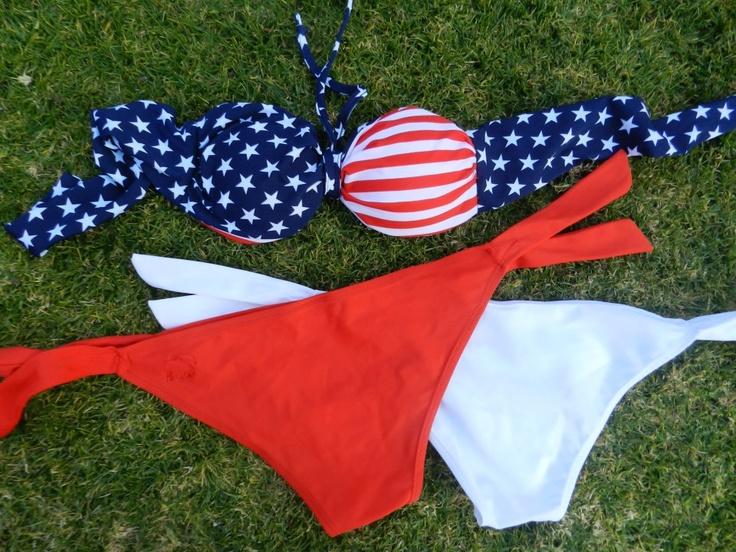 Favourite colour combos - USA    Bikini, Summer, Beach, Fashion, Girls
