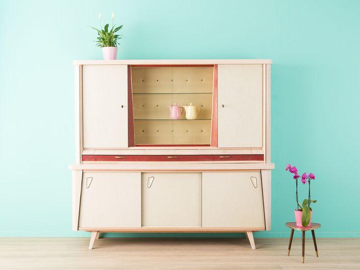 traumhafter k chenschrank schrank 50er vintage. Black Bedroom Furniture Sets. Home Design Ideas