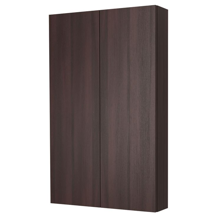 $89 wall cabinet for over toilet; GODMORGON Wall cabinet with 2 doors - black-brown - IKEA