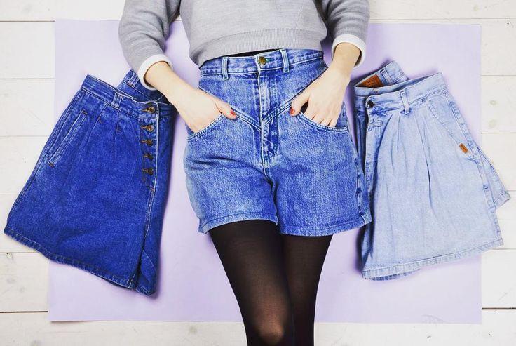 Show your legs in vintage shorts ✨  cute denim pants selection szputnyikshop jeans trousers 80s style coolkids springtime