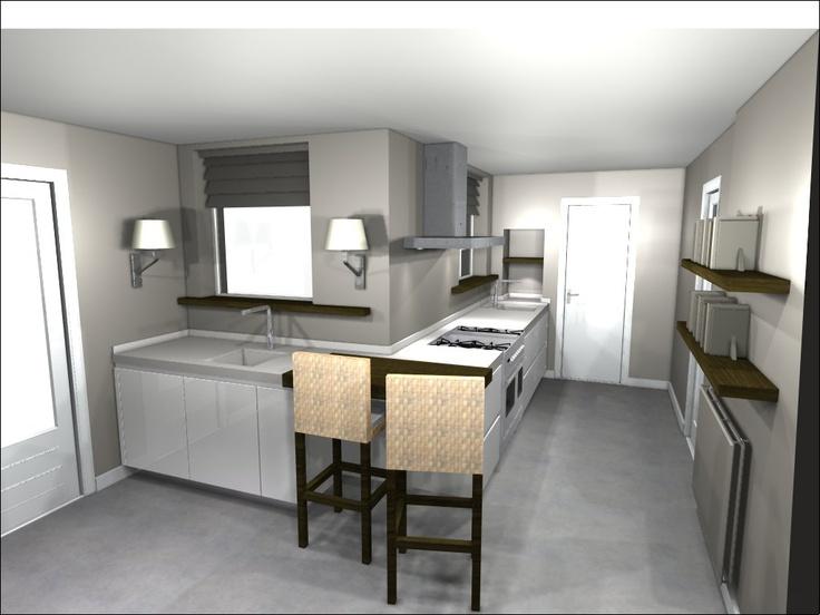 17 beste afbeeldingen over 3d keukenontwerpen op pinterest for Keuken 3d ontwerpen