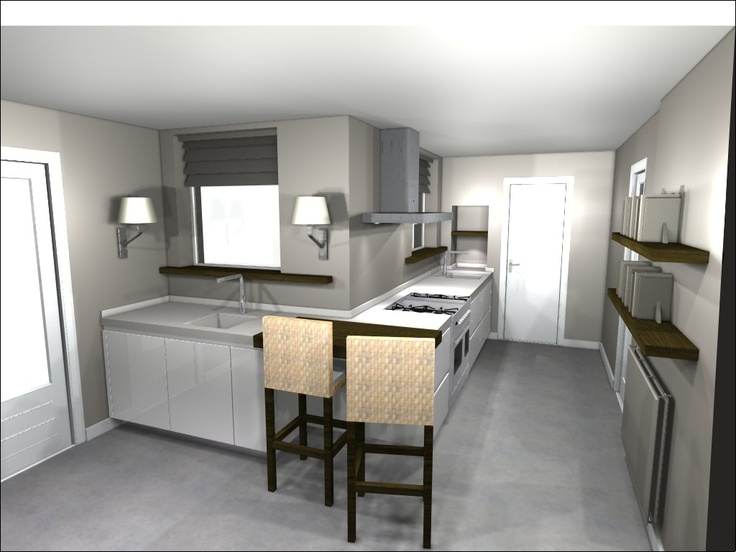 51 best 3D keukenontwerpen images on Pinterest | Kitchens, Kitchen ...
