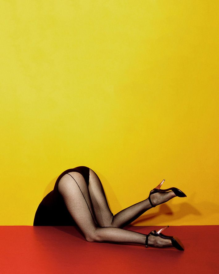 fishnet seam tights in their full glory Photo: Guy Bourdin, 1979.