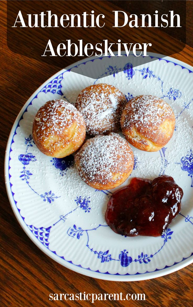 Recipe for zæbleskiver in English, with a gluten-free option