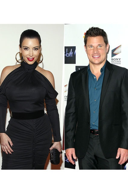 Back when Kim Kardashian wasn't a household name, she briefly dated Nick  Lachey after his highly publicized divorce from Jessica Simpson in