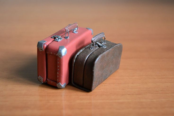 Suitcase for doll, 1/12 Dollhouse Miniature Scale, Big bag for clothes by Galchi on Etsy