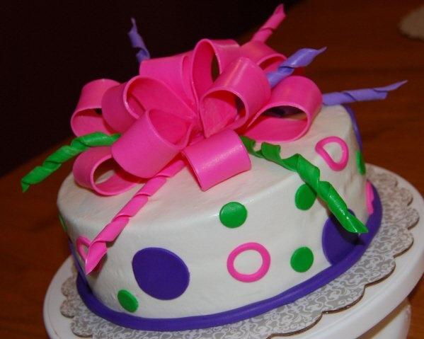 Bow Fondant Cake Pinterest