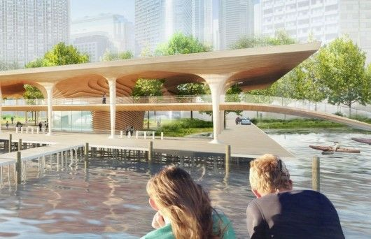 Civic Canopy Ferry Terminal / Diller Scofidio + Renfro, architectsAlliance, Hood Design. Image Courtesy of WATERFRONToronto
