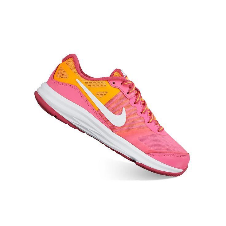 Nike Dual Fusion X Pre-School Girls' Running Shoes, Girl's, Size: 4, Pink