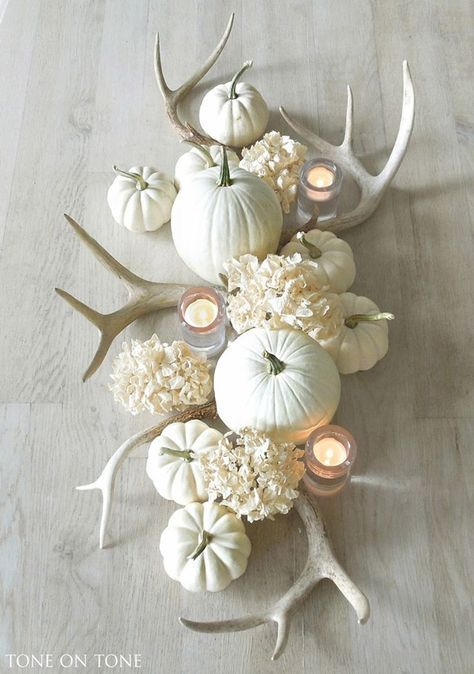 Dress up your table for the holiday season with some DIY antler decor. Antlers a…