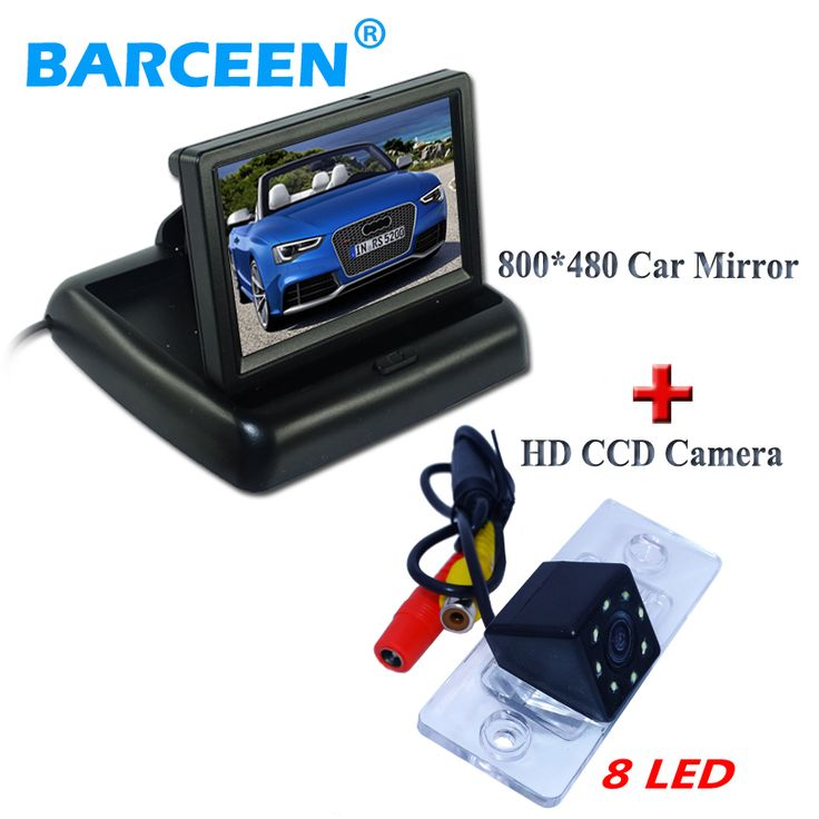 """4.3""""color lcd display car rear monitor+ccd image sensor car rear view camera 8 led for VW Touareg/Porsche Cayenne /Fabia/Poussin"""