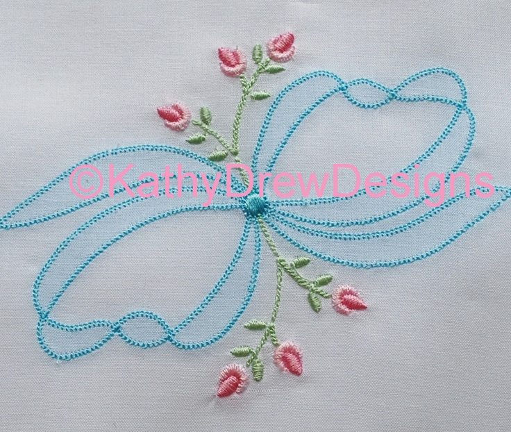 Shadow Applique Machine Embroidery with Rosebuds