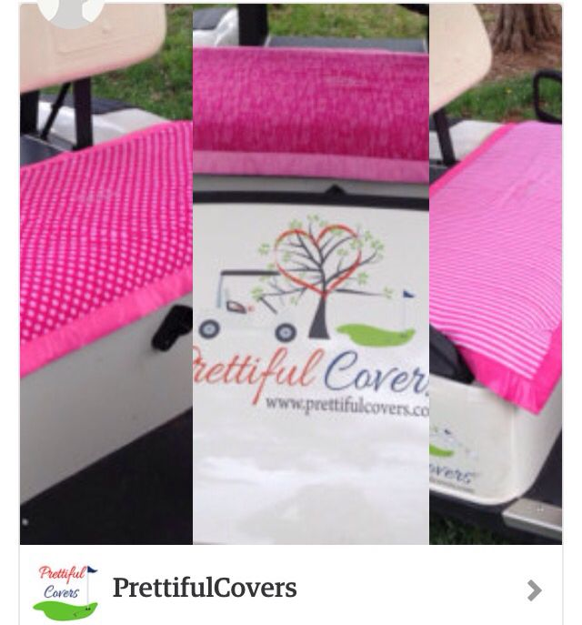 Golf Cart Seat Cover Think Pink