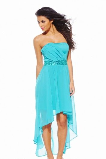 Ordered this for my college Summer Ball in June! Love it because I never wear long dresses and so this suits the occasion but I'll feel comfortable in it. Plus who wants to wear a long dress, then get drunk and ruin it? Not sure about whether I'll suit the colour, but hopefully it should look nice with a (fake) tan, and that's what refunds are for anyway! £39.99