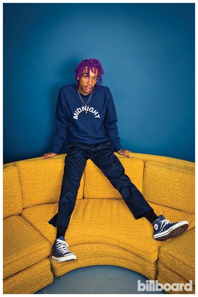 Wiz Khalifa Shows Off Purple Dreads + Fall Street Style for Billboard Photo Shoot image Wiz Khalifa Billboard Purple Dreads Photo Shoot 002