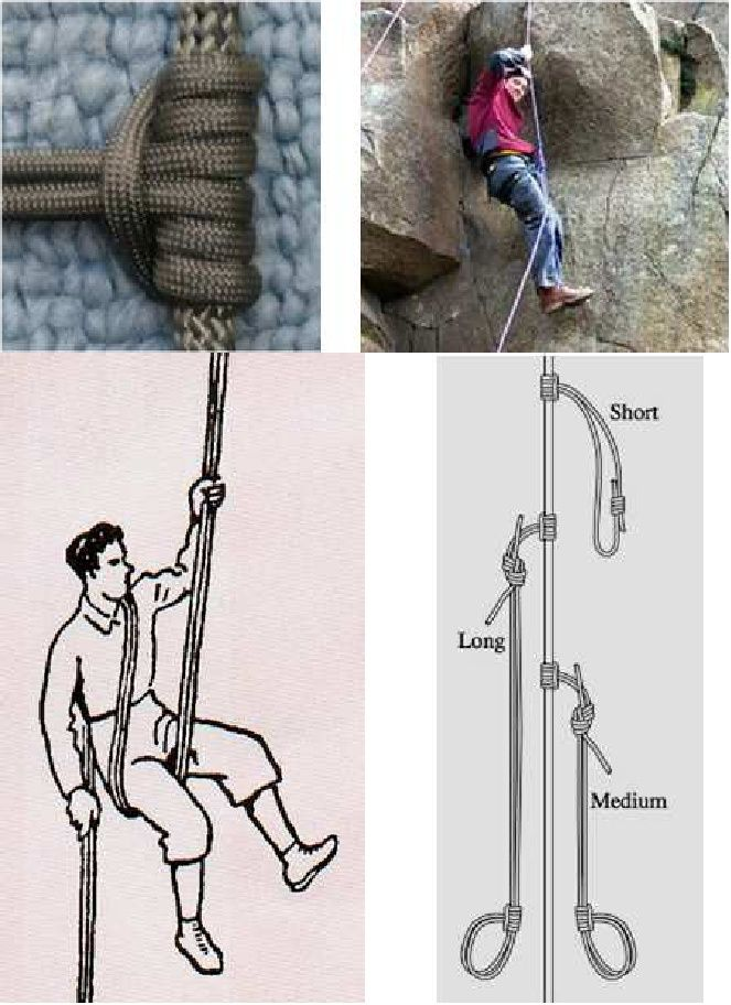 Paracord survival tip #5 - para-cord-belts.com Did you know that you can use paracord in a emergency situation where you had to fashion a climbing rope? If you have paracord but no other climbing gear, you can still rappel using the traditional body rappel technique,and climb by using the traditional prusik knot climbing setups shown here. Not as safe or easy! Please do not try this at home kids