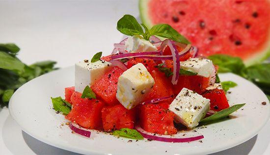 Салат из арбуза с сыром фета. Watermelon and Feta Salad. Насыщает, утоляет жажду в жаркий летний день