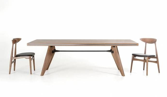 Walnut Dining Table Vig Modrest Kennedy Contemporary Modern