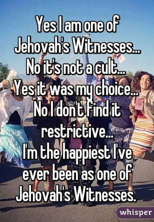 Jehovah'sWitnesses everywhere are posting this on their FB page.