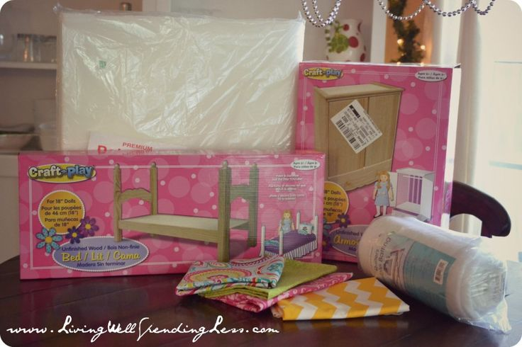 She got the bed and closet at Michael's and ad a coupon! genius!! DiY American Girl Doll Bed {Part 1} | Handmade Holidays