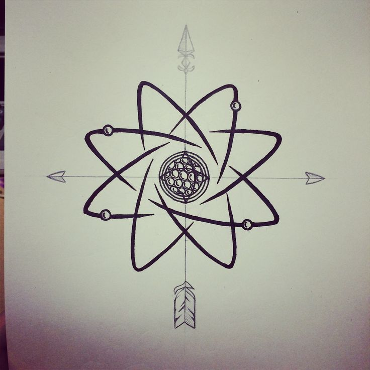 The Compass Atoms Design Tattoos And Body Art Tattoo Designs
