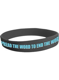 Show your support to show respect and end the r-word with this Spread the Word Bracelet. $2.00    All prices include a donation to Special Olympics and Best Buddies.br>