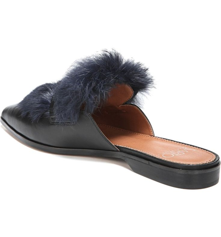Main Image - SARTO by Franco Sarto Palmer II Genuine Rabbit Fur Slide (Women)