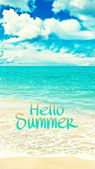 Hello Summer iphone wallpaper