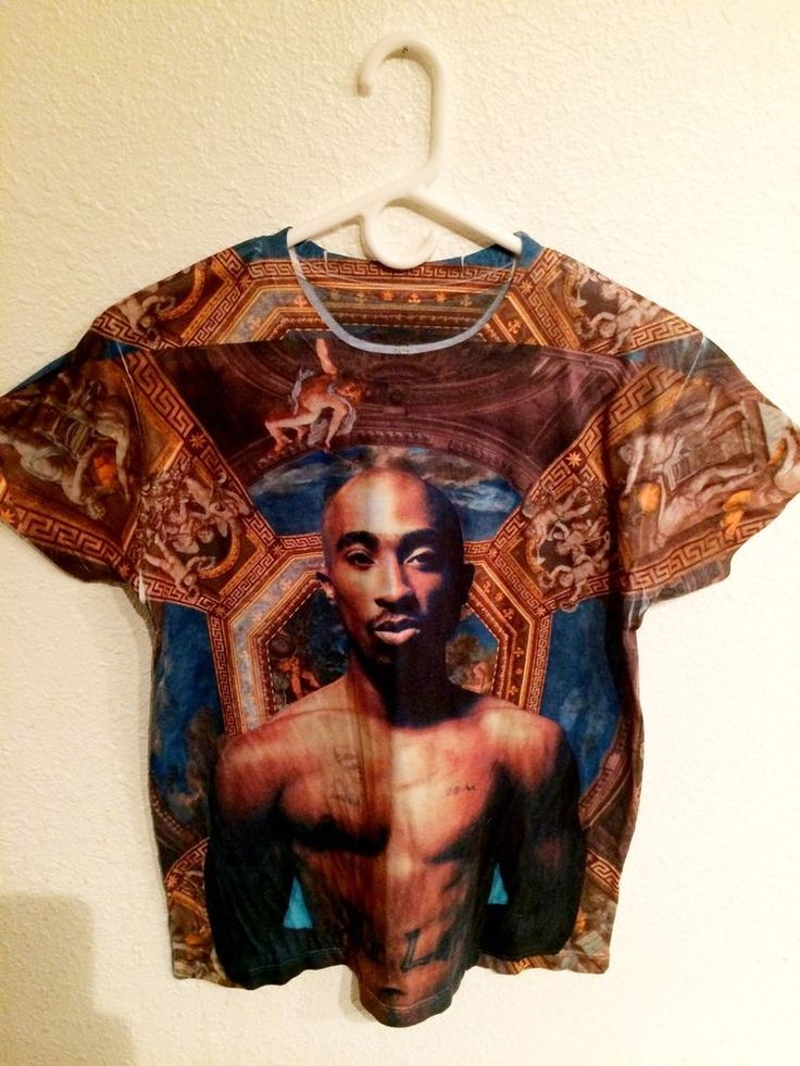 Tupac T Shirt Womans Small Size Short Sleeve 2Pac Picture Art Work Thug Life #2Pac #Tupac #shirts #GraphicTee