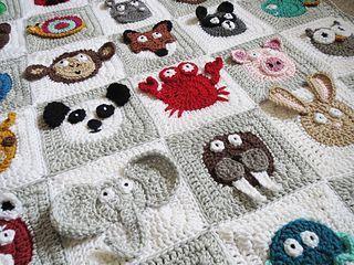 Crochet pattern: Zookeeper's Blanket by Justine Walley (ScatteredDahlias) for… #knittingpatternsbaby