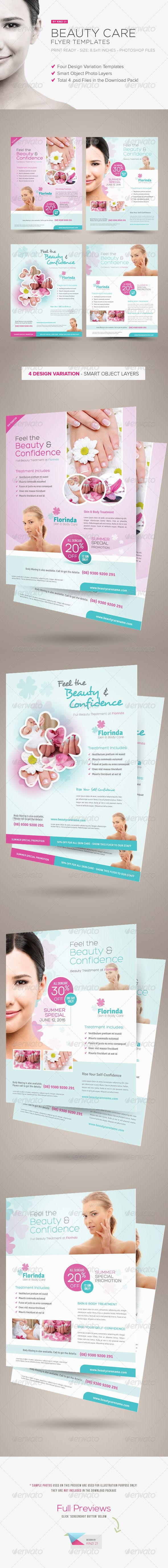 Beauty Care Flyer Templates - You can find the template source files here: http://graphicriver.net/item/beauty-care-flyer-templates/5086599?r=kinzi21