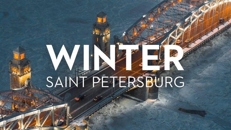Winter Saint Petersburg Russia 6K.   Зимний Петербург, аэросъёмка
