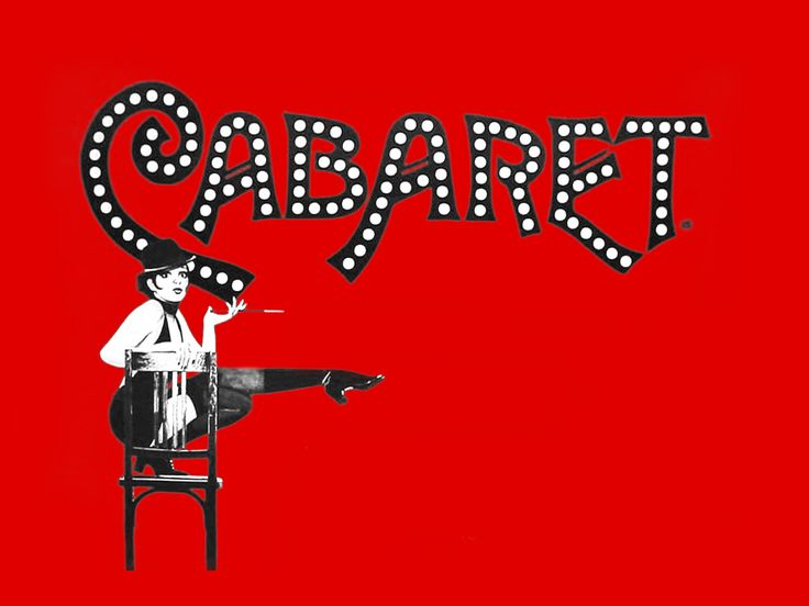 #red #black and #white #illustration #Cabaret