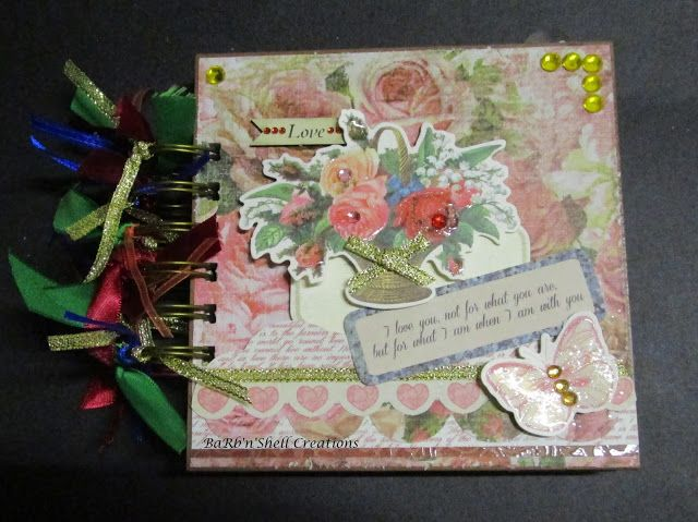 """BaRb'n'ShEll Creations  - Kaisercraft """"Lady Rose"""" Mini Album - made by Shell"""