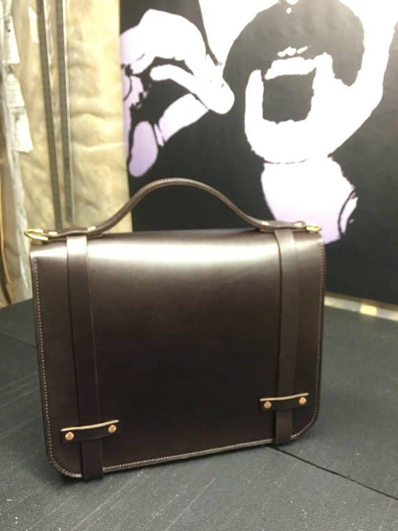 Cartera maletín de cuero hecho a mano cartera cuero cartera