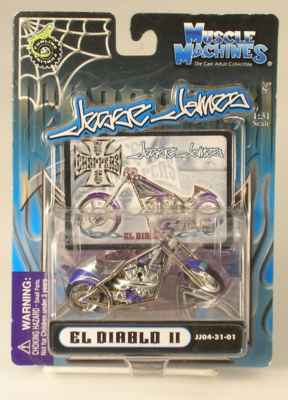West Coast Choppers Jesse James El Diablo II 2004 Die Cast Grown Up Collectible #MuscleMachines #Unknown