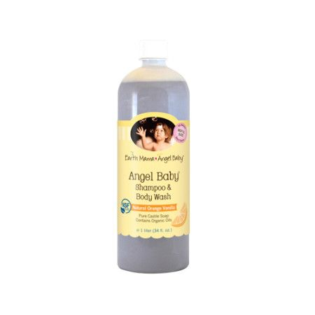 USDA Certified Made with Organic Ingredients, Angel Baby Shampoo and Body Wash is a gentle, real castile soap – not a harsh detergent. With soothing organic calendula, zero toxins and no artificial fragrance, just a sweet, light natural scent from pure organic Vanilla and organic Sweet orange essential oils. It's the perfectly safe baby shampoo, body wash, or hand soap for your entire family.