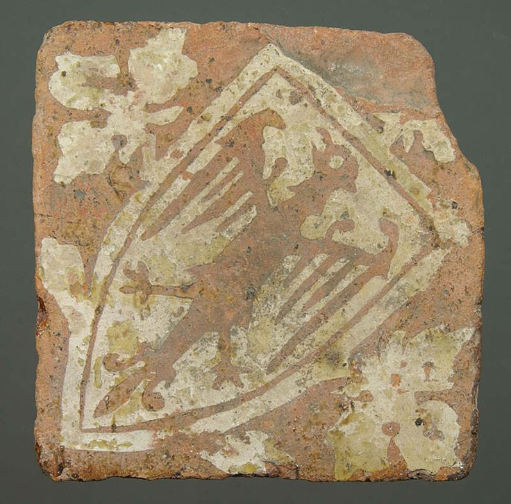 Medieval floor tile from Neath Abbey