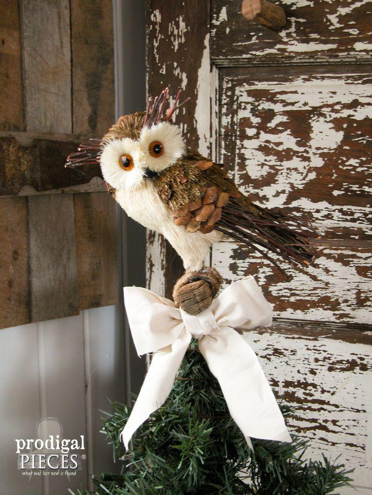 Make Christmas Tree Bow Topper