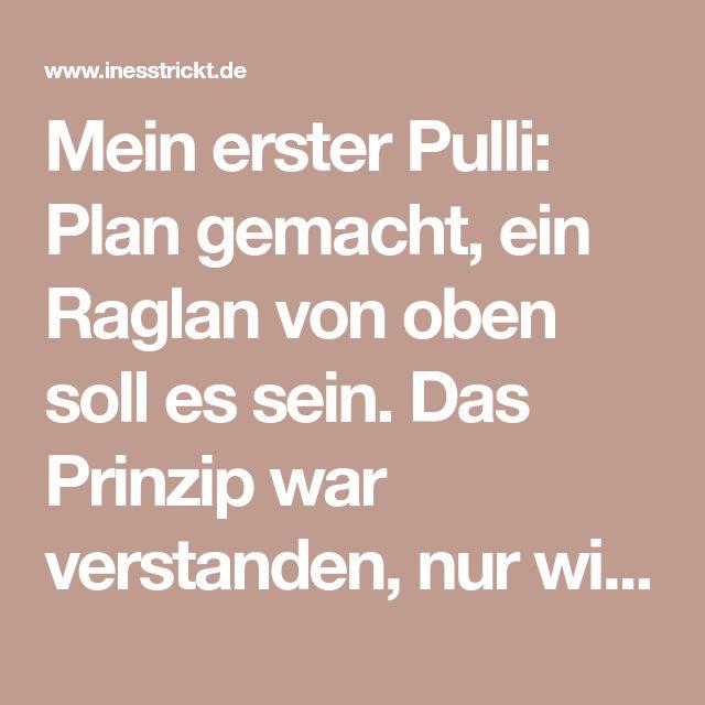 Mein erster Pulli: Plan gemacht, ein Raglan von oben soll es sein. Das Prinzip w…
