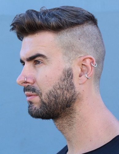 Trendy Ear Piercing For Men You Must Try, You don't have to be confused about fashion. While there are various fashions in regards to ear-piercing, it's important to be aware that only one pie. Tragus Piercings, Guys Ear Piercings, Dermal Piercing, Ear Piercing For Men, Ears Piercing, Popular Mens Hairstyles, Cool Mens Haircuts, Popular Hairstyles, Men's Haircuts