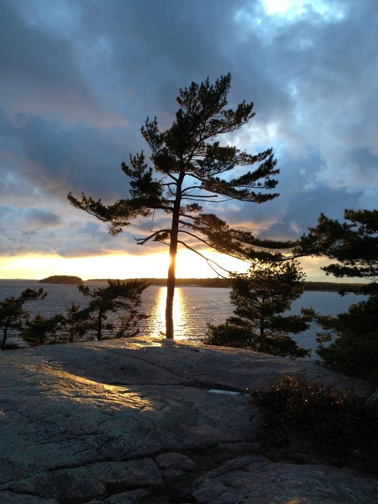 Sunset at Harold Point. Killbear Provincial Park.