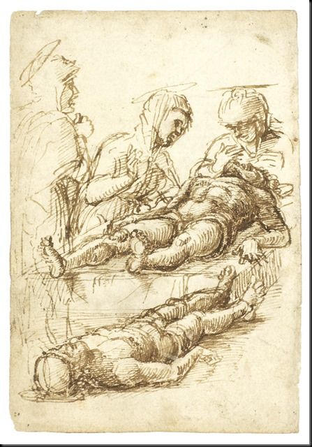 Andrea Mantegna, Study for a Lamentation of the Dead Christ
