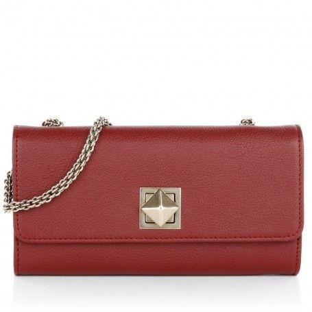 Sonia Rykiel Kleinleder – Crossbody Wallet Chain Lipstick Red – in rot – Kleinleder für Damen