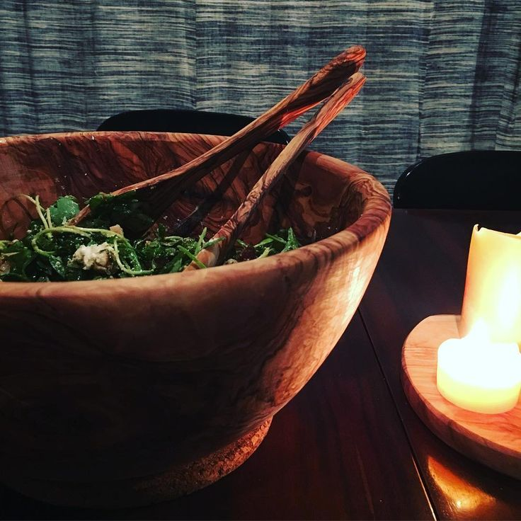 We just got some more olivewood bowls in. This beautiful  piece came out of the box a bit damaged. Lucky me, now it's mine! #handmade#olivewood#bowl#saladbowl#uscha#fitzroy#wintersalad#