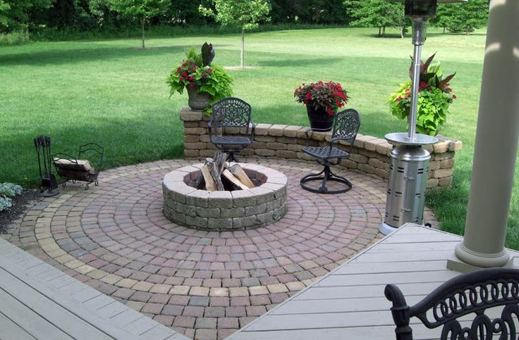I Want This Outdoor Patio Firepit Area For The Home